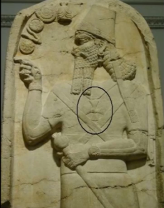 ASSYRIAN KING ADAD V (823-811 BC) WEARING MALTESE CROSS