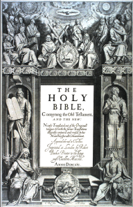 COVER OF THE KING JAMES BIBLE (1611)