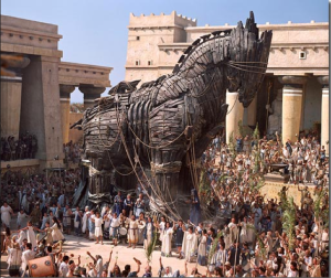 METAPHORICALLY A TROJAN HORSE -
